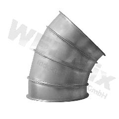 Bogen-GABE-NW100-45°-verzinkt-Segment