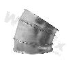 Bogen-GABE-NW100-30°-verzinkt-Segment